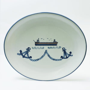 Great Lakes Laker Anchor Oval 15 Inch Platter