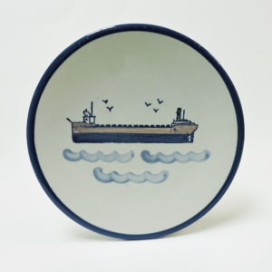Great Lakes Laker Stoneware Plate