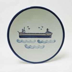 Great Lakes Laker Stoneware Plate