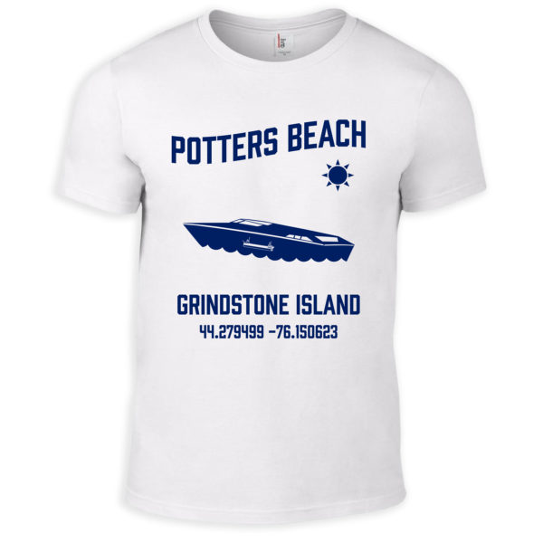 White Potters Beach T-Shirt