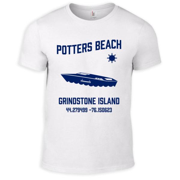 White Potters Beach T-Shirt