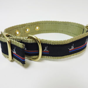 Khaki-Red Collar