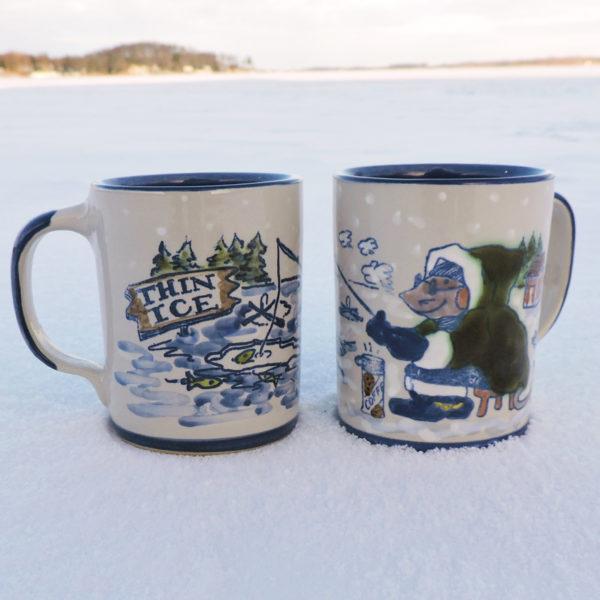 River Rat Ice Fishing Mug
