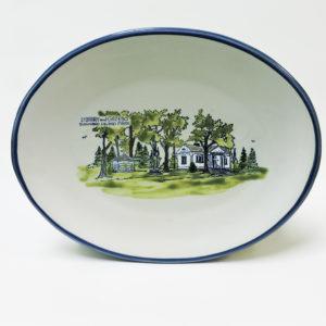 T.I. Park Library & Gazebo 12 Inch Oval Platter