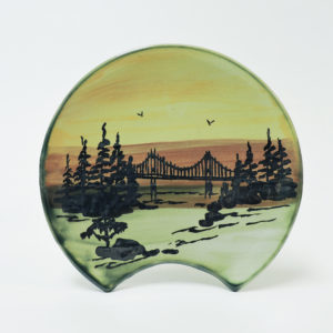 1000 Islands Sunset Spoon Rest (TI Bridge Scene)