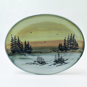 1000 Islands Sunset Stoneware 12 Inch Platter (Island Scene)