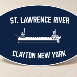Clayton NY St. Lawrence River Sticker